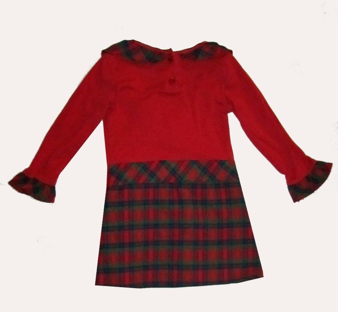 Me 49 Red Tartan Plaid Long