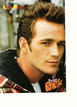 Luke Perry Trey Parker teen magazine pinup clipping 1990's close up 9021... - $3.50