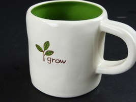 Starbucks Coffee Grow Green Twig Rustic Mug Cup Handpainted Earth Day 10... - $24.26