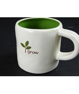 Starbucks Coffee Grow Green Twig Rustic Mug Cup Handpainted Earth Day 10... - $24.26