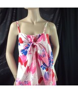 Vtg Evelyn Margolis Hilo Hattie Hawaiian Maxi Dress Mod Bold Watercolor ... - $48.51