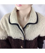 Boucle Knobby Knit Wool Lined Jacket Cabin Barn Rumania Utex Design Med/Lrg - $29.21