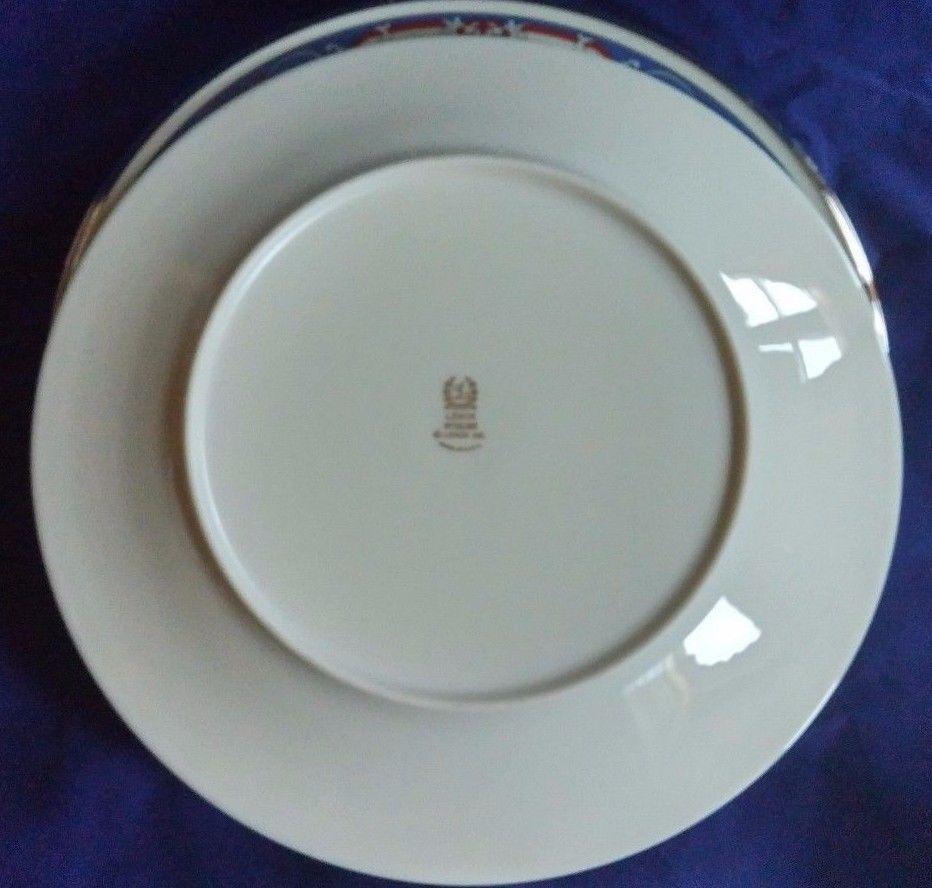 Lenox Interlude 4 Piece 10-1/2 inch Dinner Plate Set Platinum Rim Dinnerware