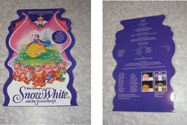 Disney Snow White & The 7 Dwarfs Movie Program 1990s - $18.99