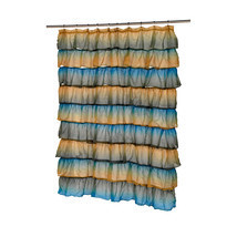 Carmen Polyester Shower Curtain in Umber Print 1301-SCVOIL-CAR-45 - $36.44