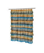 Carmen Polyester Shower Curtain in Umber Print 1301-SCVOIL-CAR-45 - $36.44