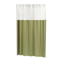 Carnation Home Fashions Window Vinyl Shower Curtain in Sage 1301-SCWIN-7... - $27.33