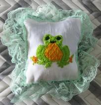 Zawadi Frog Needlepoint Pillow - $15.00