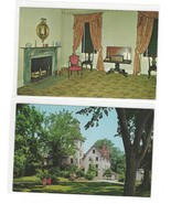 Batsto Mansion NJ Ironmasters House and Sitting Room 2 Vntg Postcards - $5.95