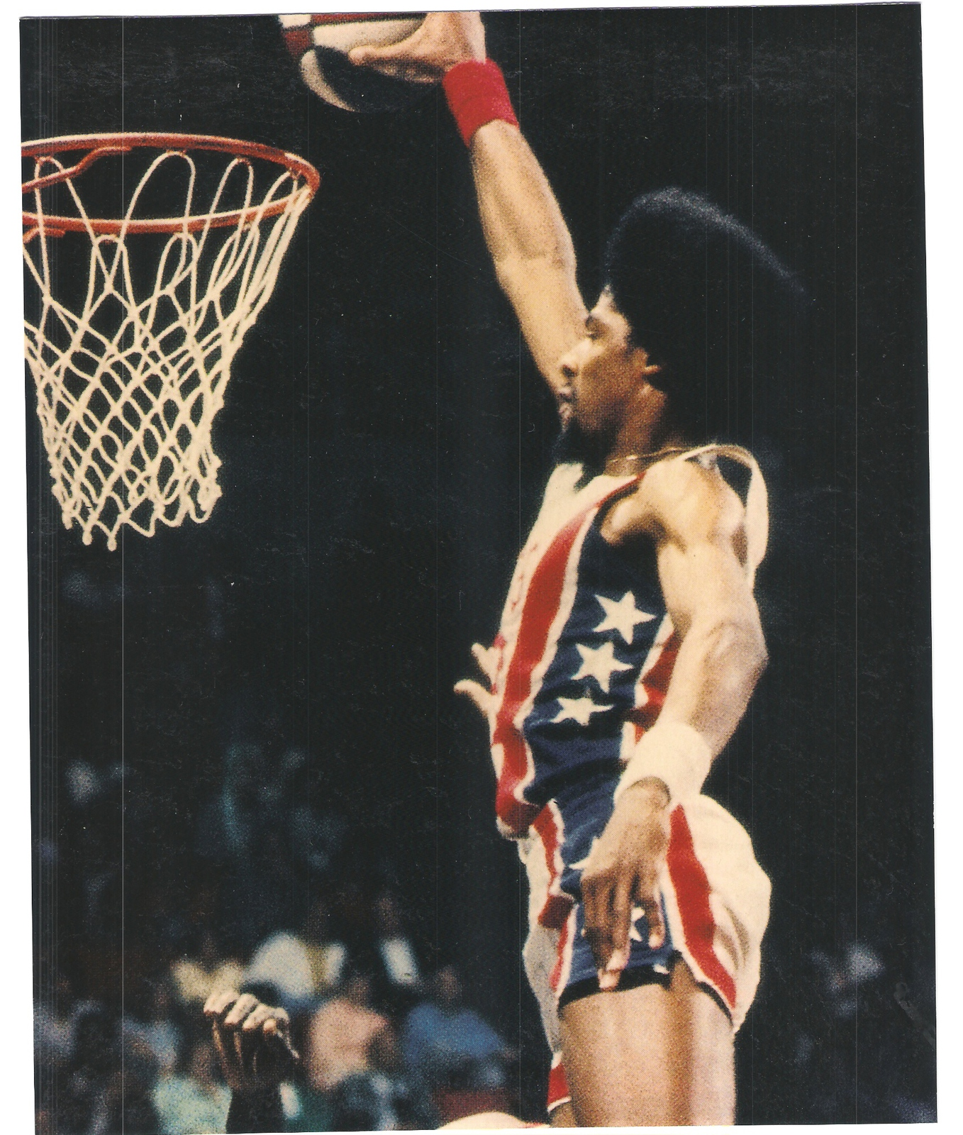 Primary image for Julius Erving New Jersey Nets Vintage 11X14 Color Basketball Memorabilia Photo