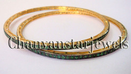 !! Victorian Inspired !! 4.25 Ctw Emerald .925 Silver Fashionable Bracelet - $399.00