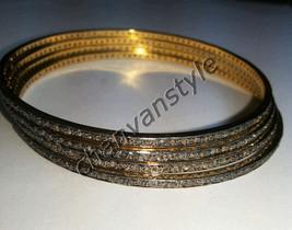 !! Victorian Inspired !! 8.15 Ctw Rose Cut .925 Silver Four Piece Bracelet - $545.45