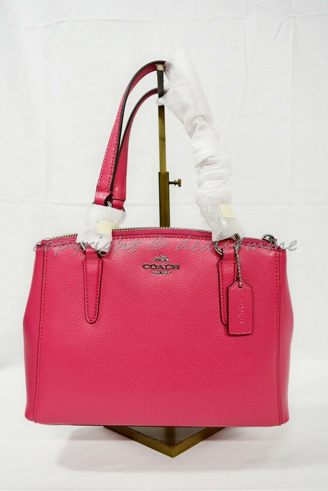 Primary image for Coach 57265M Crossgrain Mini Christie Satchel/Shoulder Bag in Amaranth - Pink