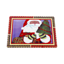 Carnation Home Fashions Chris Kringle Holiday Place Mat Set of 4 1301-XP... - $24.59