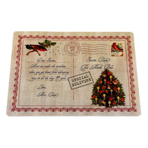 Home Fashions Letter to Santa Holiday Place Mat, Set of 4 - 1301-XPLMT-L... - $24.59