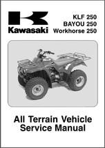 03-05 Kawasaki KLF 250 / Bayou 250 / Workhorse 250 Service Repair Manual CD - $12.00