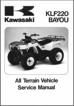 88-02 Kawasaki KLF 250 Bayou Service Repair Manual CD -- KLF250 - $12.00