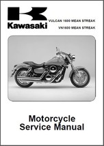 04-06 Kawasaki Vulcan 1600 / VN1600 Mean Streak Service Repair Manual CD  -  VN - $12.00