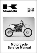 2003-2005 Kawasaki KX125 KX250 Service Repair Manual CD -- KX 125 250 - $12.00