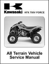 Kawasaki KFX 700V Force ATV Service Repair & Parts Manual CD  KFX700 KFX700V 700 - $12.00