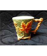 large autumn coffee/tea/cider  mug with colorful leaves all around.twigg... - $17.00