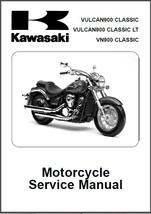 06-13 Kawasaki Vulcan 900 Classic Service Repair Manual CD -- VN 900 VN900 LT - $12.00