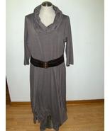 Midnight Velvet 20 W Cowl Neck Dress Womens Gray Plus Size Gals  - $34.97