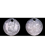 1823-PTS PJ Bolivian 1/2 Real World Silver Coin - Bolivia - Holed - $34.99