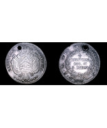 1866/5-PTS FP Bolivian 1/5 Boliviano World Silver Coin - Bolivia - Holed - $59.99