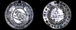1808 Swiss Cantons Bern 5 Batzen World Silver Coin - Holed - $99.99