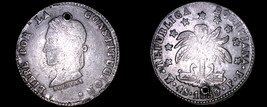 1859-PTS FJ Bolivian 4 Soles World Silver Coin - Bolivia - Holed - $99.99