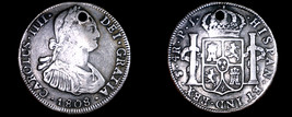 1808 PTS-PJ Bolivian 4 Reales World Silver Coin - Charles IV - Holed - $149.99