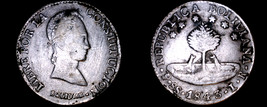 1843-PTS LR Bolivian 8 Soles World Silver Coin - Bolivia - Tooled - $69.99