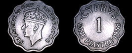 1938 Cyprus 1 Piastre World Coin - $12.99
