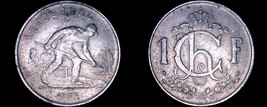 1952 Luxembourg 1 Franc World Coin - $5.75