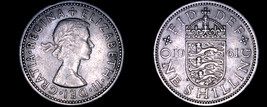 1961 Great Britain 1 Shilling World Coin - UK England - $3.99