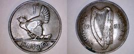1931 Irish Penny World Coin - Ireland - $21.99