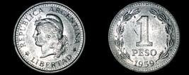 1959 Argentina 1 Peso World Coin - $4.99