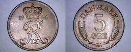 1964 Danish 5 Ore World Coin - Denmark - $4.99
