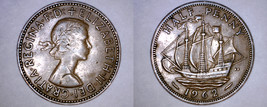 1962 Great Britain 1/2 Penny World Coin - UK - England - $2.49