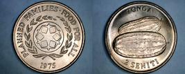 1975 Tonga 2 Seniti World Coin - Watermelons - $4.99