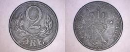 1944 Danish 2 Ore World Coin - German Occupied Denmark - $6.99