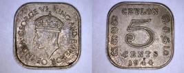 1944 Ceylon Sri Lanka 5 Cent World Coin - $5.49