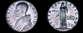 1952 Vatican City 10 Lire World Coin - Catholic Church Italy - $10.99