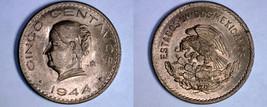1944 Mexican 5 Centavo World Coin - Mexico - $14.99