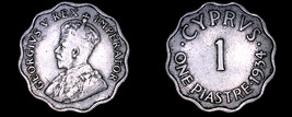 1934 Cyprus 1 Piastre World Coin - $9.99