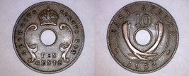 1952 East African 10 Cent World Coin - British Admin Kenya - $9.49
