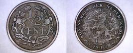 1912 Netherlands 1/2 Cent World Coin - $4.99