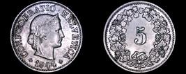 1944 Swiss 5 Rappen World Coin - Switzerland - $4.99