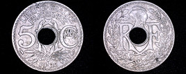 1935 French 5 Centimes World Coin - France - $4.99